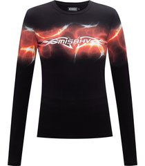 'barb wire' long-sleeved t-shirt