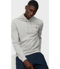 polo ralph lauren cotton mesh hoodie tröjor grey