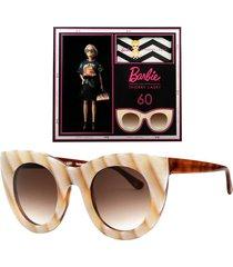 thierry lasry x barbie beige cat eye sunglasses
