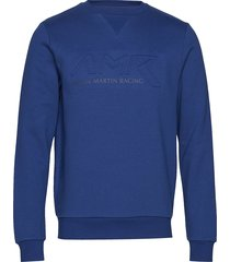 amr crew sweat-shirt trui blauw hackett