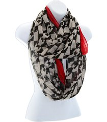 university of alabama crimson tide inspired houndstooth & crimson infinity scarf