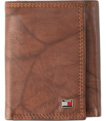 tommy hilfiger men's leather rfid wallet