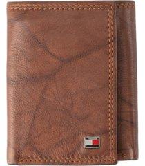 tommy hilfiger men's leather rfid wallet