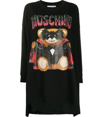 moschino bat teddy bear knitted dress - black