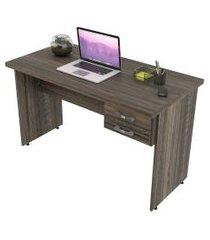 escrivaninha mesa de escritório trevalla 1,20m tampo 30mm carvalho dark