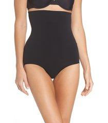 women's spanx higher power shaper panties, size large - black