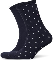 th women sock dot 2p lingerie socks regular socks blå tommy hilfiger