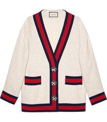 gucci oversize tweed cardigan jacket - neutrals