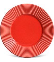 conjunto 6pçs pratos de sobremesa porto brasil argos vermelho