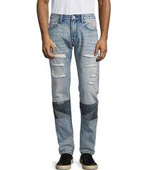 rocker slim-fit distressed jeans