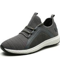 sneakers da running leggere in tessuto lavorato a maglia da uomo