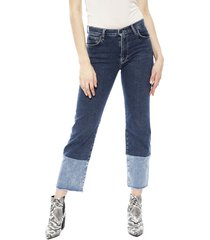 jeans pepe jeans grace azul - calce ajustado
