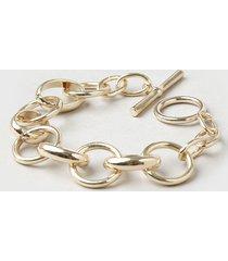 pulseira feminina em corrente dourada