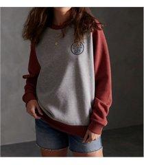 superdry women's workwear stamp raglan crew sweatshirt