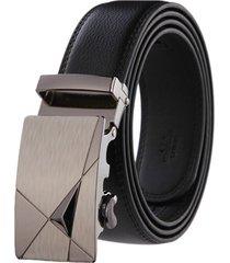 cinturon hombre lujo hebilla automatica # 3 - color negro
