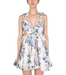 zimmermann cassia mini dress with ruffles