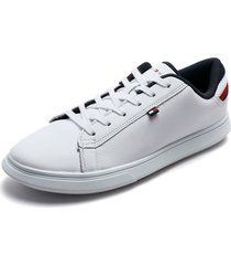 tenis blancos-azul-rojo tommy hilfiger