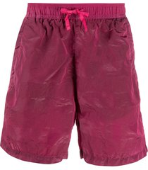 stone island shadow project shell swim shorts - pink