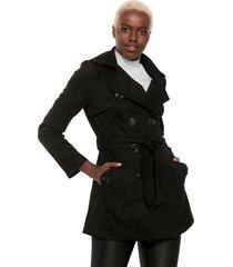 casaco trench coat facinelli by mooncity botões preto