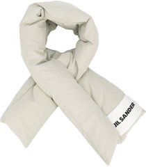 jil sander feather down scarf - neutrals