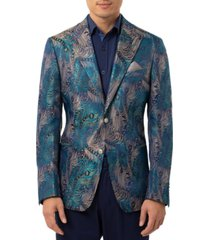 tallia men's peacock slim fit dinner jacket