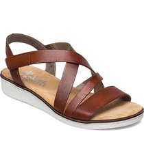 63663-24 shoes summer shoes flat sandals brun rieker