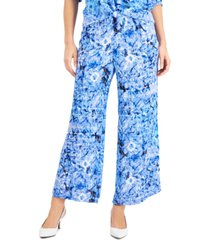 jm collection petite ariana printed pants, created for macy's