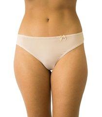 calcinha fio duplo mulher elegante qtal lingerie básico bege