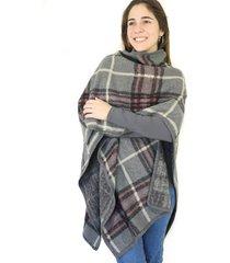 ruana gris almacén de paris mujer invierno
