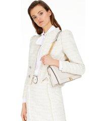 inc fringe-trim tweed jacket, created for macy's