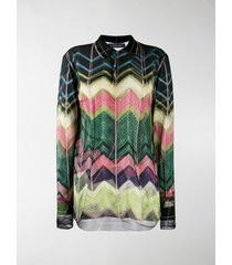 y/project chevron patterned polo top