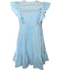 rahi cleo ruffled eyelet cotton dress