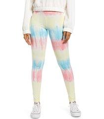 women's bp. high rise leggings, size medium - blue