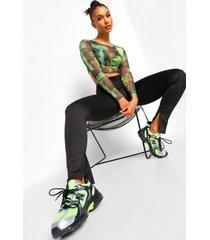 skinny fit broek met split, black