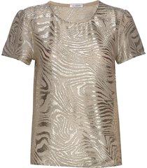 wesley top blouses short-sleeved goud ida sjöstedt