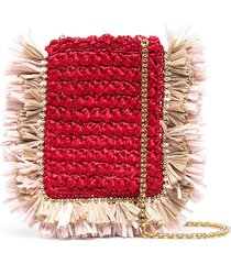 la doublej purse necklace crossbody bag - red