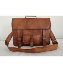 "18"" coach leather crossbody messenger bag men laptop briefcase satchel men bag"