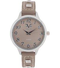 reloj taupe-plateado versace 19.69