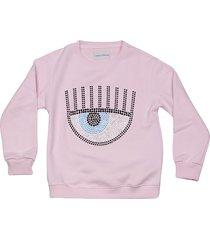 chiara ferragni embellished sweatshirt