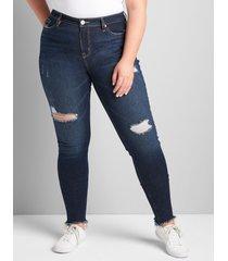lane bryant women's signature fit skinny jean 28p dark denim