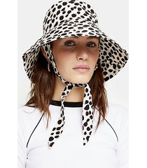 dalmatian spot tie bucket hat - light brown