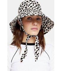 dalmatian spot tie bucket hat - light brown