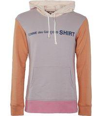 comme des garçons shirt logo print hoodie
