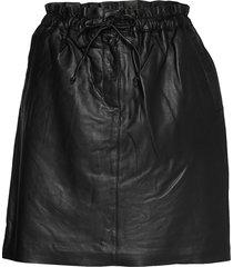 emmykb leather skirt kort kjol svart karen by simonsen