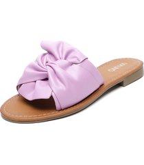 sandalia morado via uno