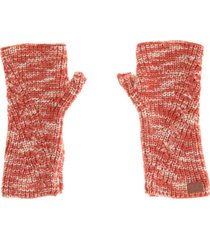 guantes sin dedos rojo humana