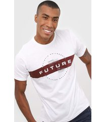 camiseta fiveblu future branca - branco - masculino - algodã£o - dafiti