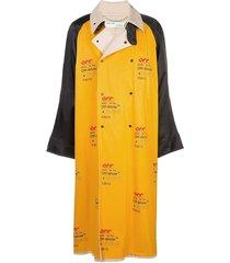 monogrammed industrial coat