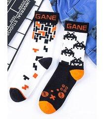 hombre hip hop style graphic print super soft calcetines