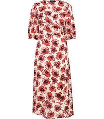 slisabeth dress knälång klänning röd soaked in luxury